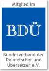 Georg and Suzanne Eisenmann are members of the BDÜ; the German Federal Association of Translators
